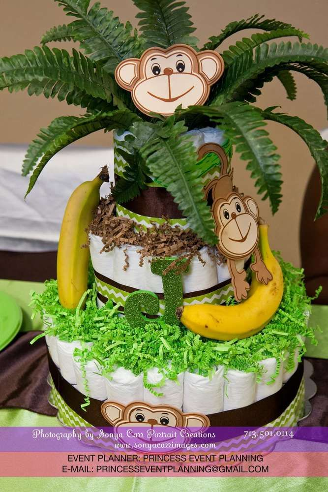 1000 Images About Monkey Baby Shower Decorations On Pinterest Table Confetti Baby Showers