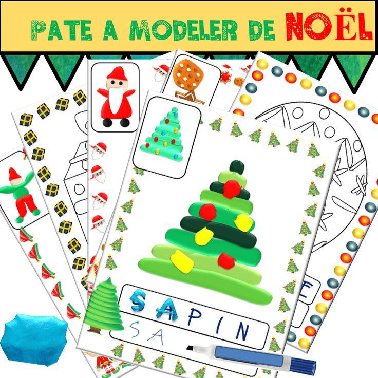Pâte à modeler de Noël - Autonomie Grande Section, Moyenne ...   Atelier noël maternelle, Noel ...