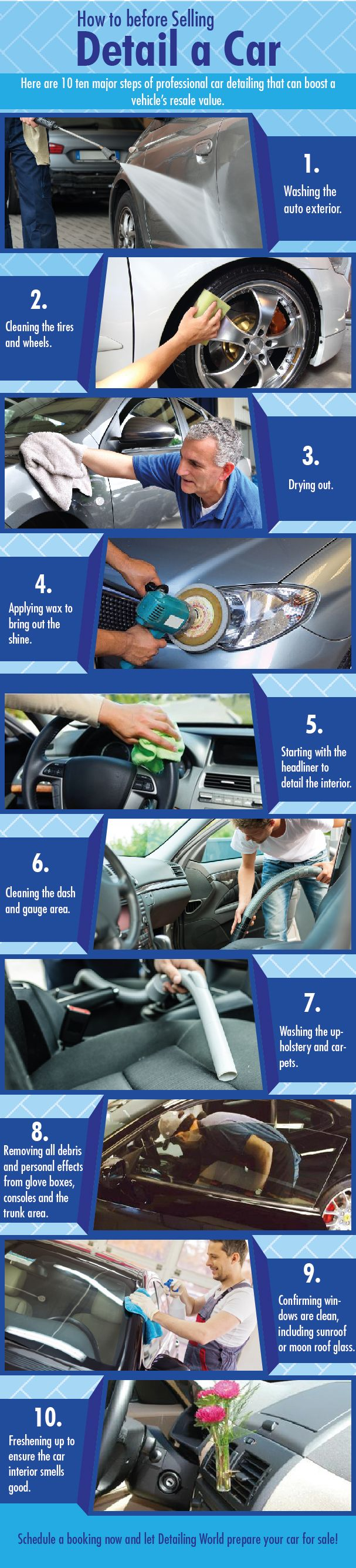 How to detail a car before selling