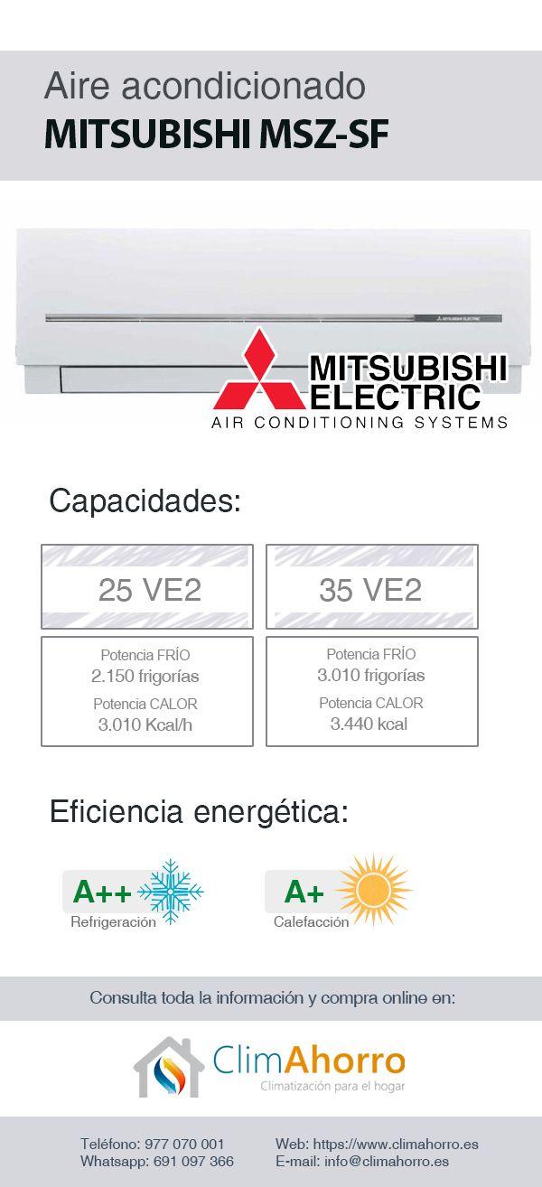 Aire acondicionado Mitsubishi MSZ-SF VE2