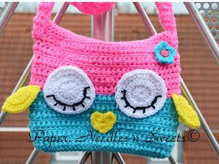 Paper, Needles n Sweets : Sleepy Owl Ipad Crochet Bag FREE Pattern