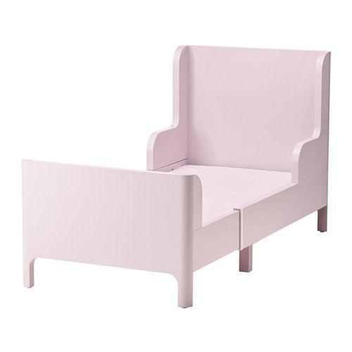 BUSUNGE Växasäng IKEA Utdragbar säng som kan förlängas i takt med att barnet växer.</t><t>Ribbor av massivt trä ger ett fast stöd.