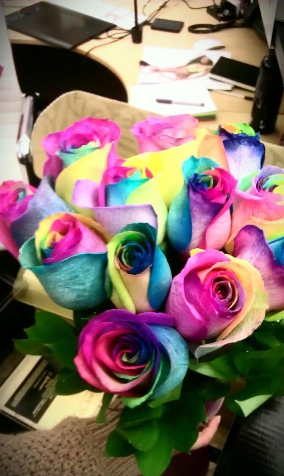 Tie Dye Roses Total Whims Pinterest Rainbow Roses