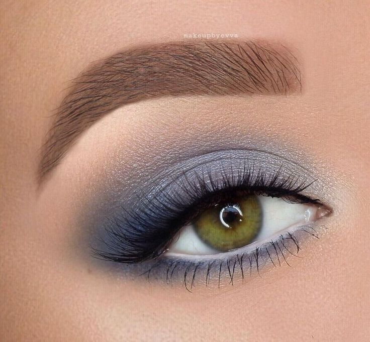 Maquiagem azul esfumaçada para os olhos   – Makeup