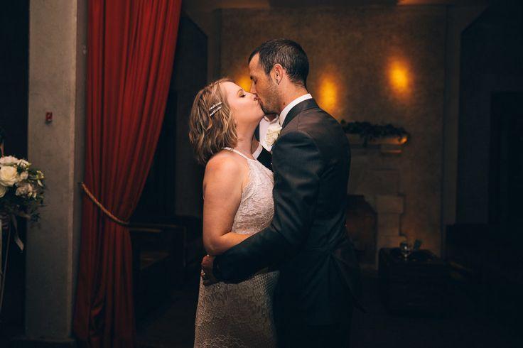 Jenn & Alex: Stone Brewery Liberty Station Evening Wedding by AshGabes Photography