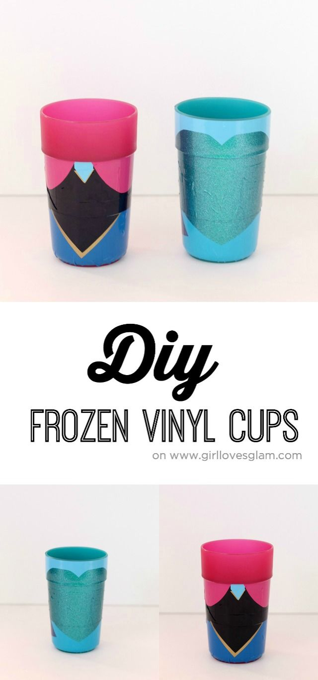 DIY Frozen Cups on www.girllovesglam.com