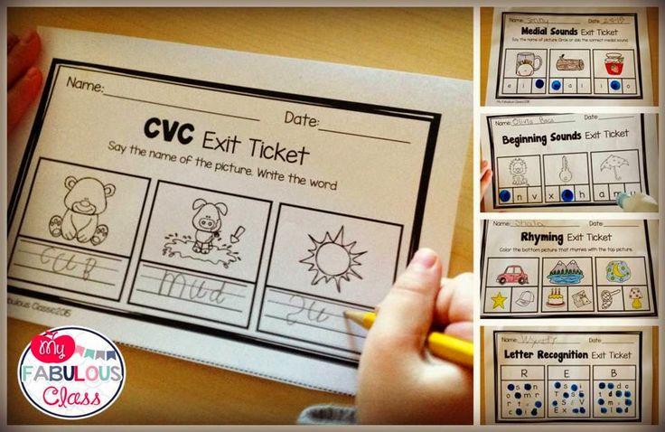 Great post on using Exit Tickets in Kindergarten.