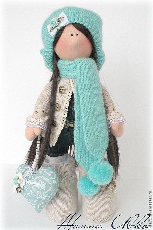 Купить MELANI - голубой, кукла ручной работы, кукла с большими ногами, подарок, подарок девушке