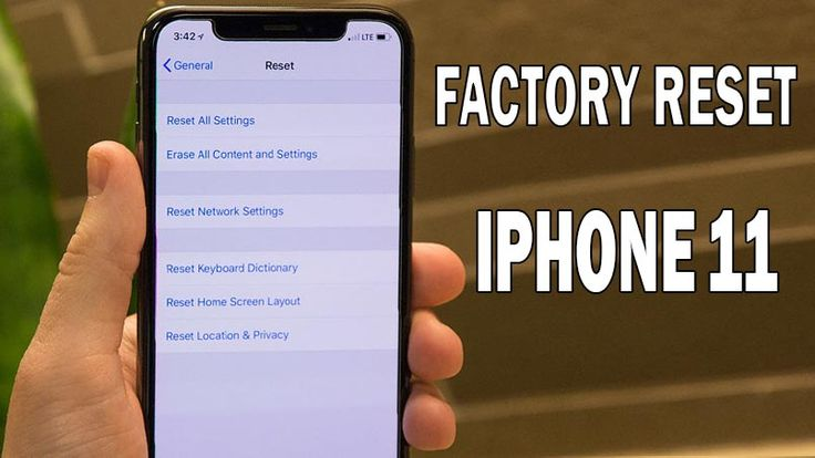 How to factory reset iphone 11 and back to default setting