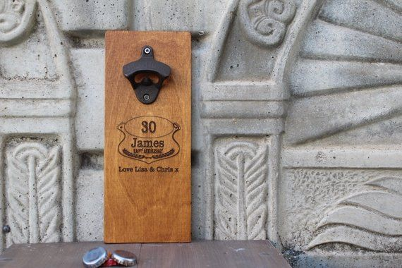 Groomsmen Wall Mounted Bottle Opener, Bottle Opener Wall Mount with Cap Catcher, Groomsmen Beer Gift, Cast Iron Bottle Opener, Cap Catcher