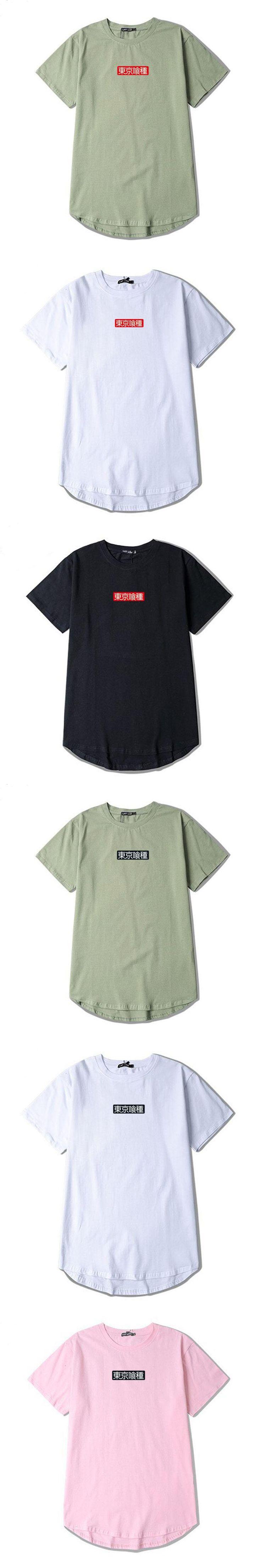 Tokyo Ghoul Cosplay Anime T Shirt Men Letter Printed Length Short Sleeves Suprem Funny T-Shirt Harajuku Hip Hop Swag Summer Tops