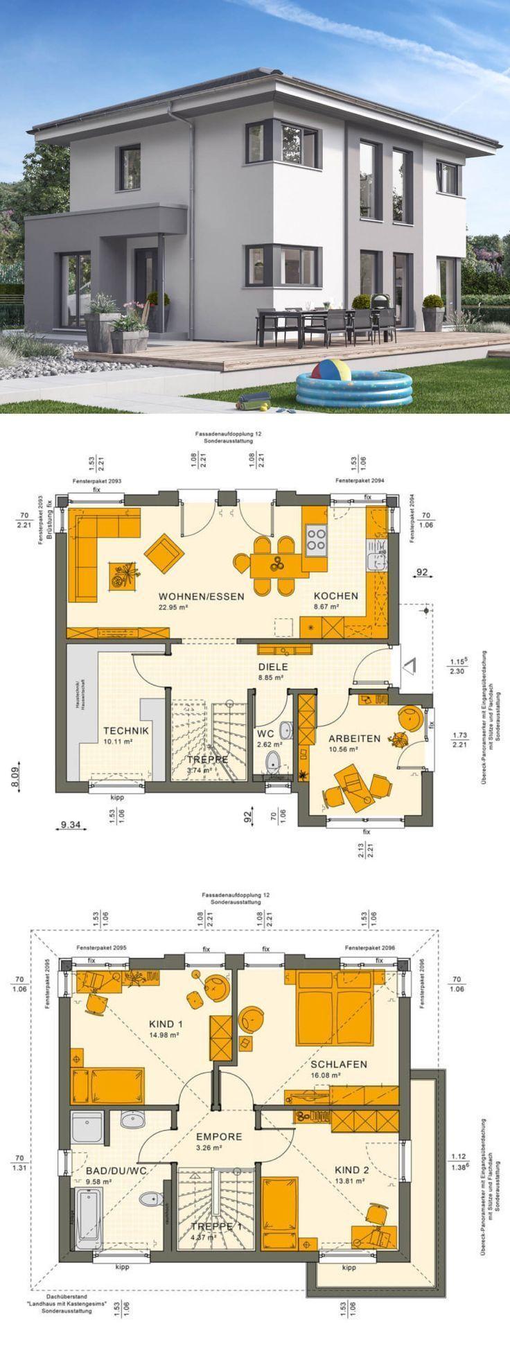 Moderne Stadtvilla Neubau mit Walmdach Architektur & Bay Anbau – Einfamilienhaus…