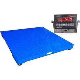 Optima Scale NTEP Legal for Trade 5 by 5-Feet Heavy Duty Floor/Pallet Scale, 10000-Pound by 2-Pound. 10,000 lbs. x 2 lbs. Comes in other sizes. Indicator with lb./kg selectable, RS-232, auto hold function.