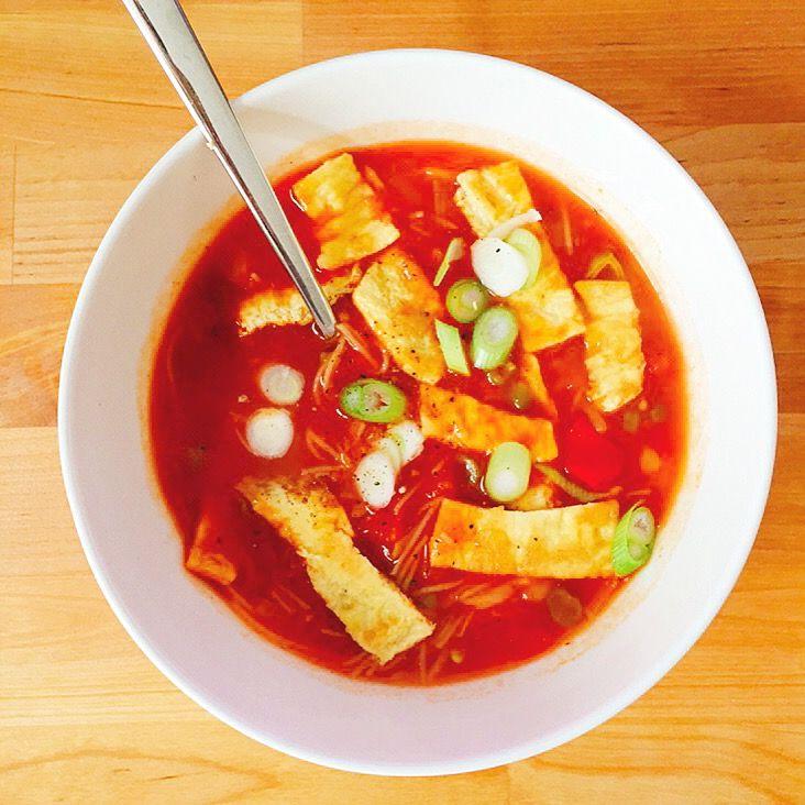 chinese tomatengroentesoep