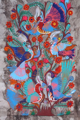 Just discovered this form of art--Mexican folk paintings on amate bark paper!