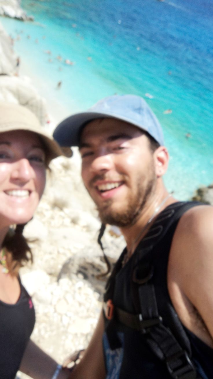 Me & Petros ready for rock diving at Seychelles, Ikaria island, Greece !!