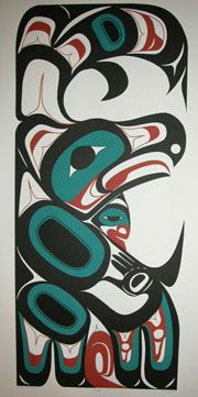 Eagle Dancer by Henry Reece INUIT  ART / ALASKAN NATIVE PEOPLES ' ART / NORTHWESTERN ART / NATIVE CANADIANS' ART : More At FOSTERGINGER @ Pinterest