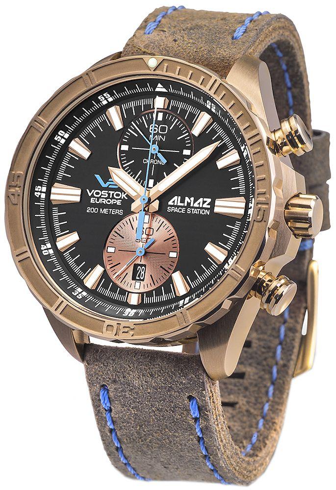 Zegarek z brązu Vostok Europe Almaz 6S11-320O266 - sklep internetowy www.zegarek.net