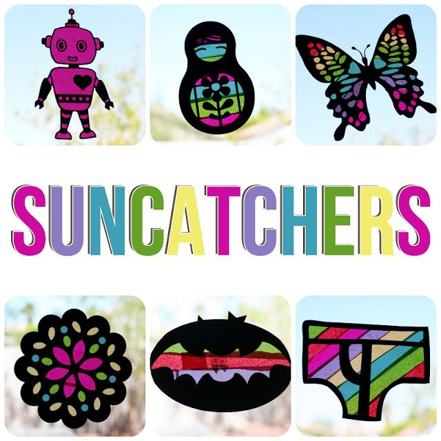 [arts & crafts] suncatchers - Eighteen25