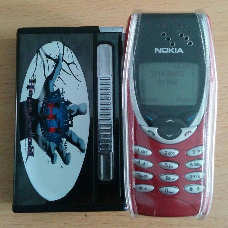 Cigarette case with lighter feat Nokia 8210 #Old_Style #Vintage #Nokia #Nokia_8210 #HP-Djadoel #HP-JAdul #Jadul