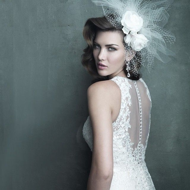 Wedding gown | Bridal dress | Allure Couture | Style C280 | Sheer back | Lace |