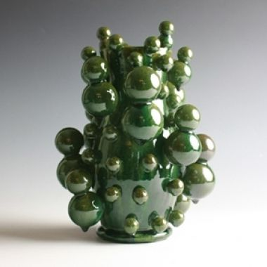 Atomic Spiral Bottle, 2011 Crystalline-glazed stoneware