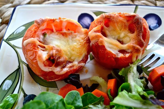 Pepperoni Pizza Tomato Bowls « Make the Best of Everything