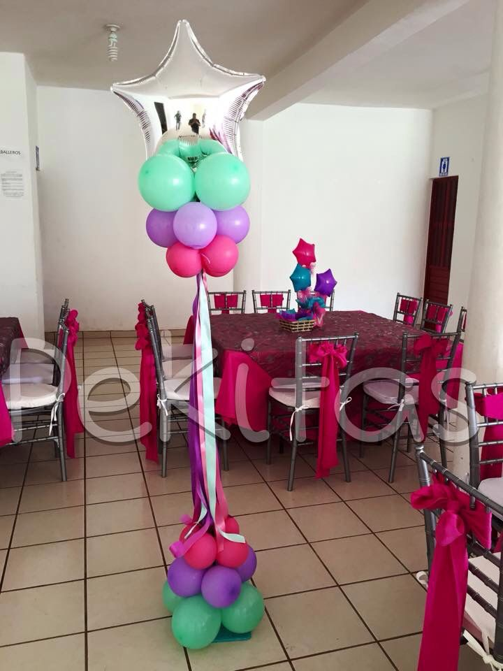 17 mejores ideas sobre torre de globos en pinterest for Globos para quinceaneras