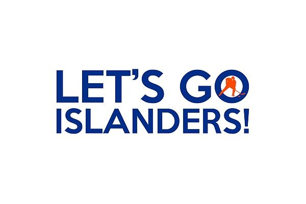 "A typography artwork dedicated to the New York Islanders hockey team and its fans, sporting the ""Let's Go Islanders!"" chant and the club colors."