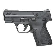 The Smith & Wesson M&P Shield 9 semi-auto pistol chambered in the popular 9 MM is designed specifically for concealed carry, equally at home in a slim-line holster, pocket or purse.