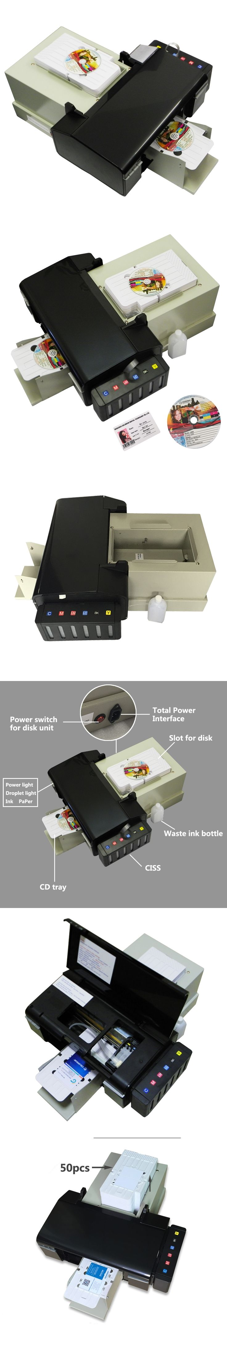 Multifunctional and Economic CD/DVD/PVC card printer on hot sales