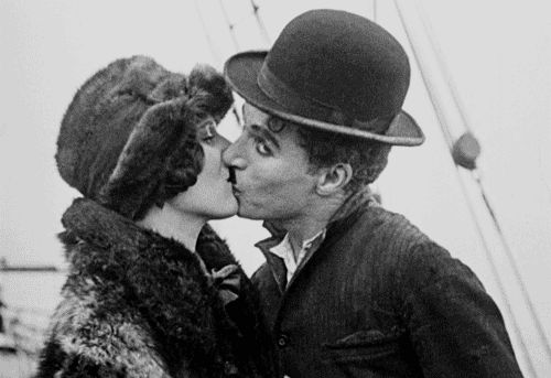 "chaplinfortheages: "" "" The Gold Rush - June 26th 1925 Released 88 years ago today "" This is the original ending of The Gold Rush when it was released in 1925, when Charlie Chaplin revived it and added narration and music in 1942 he omitted this..."