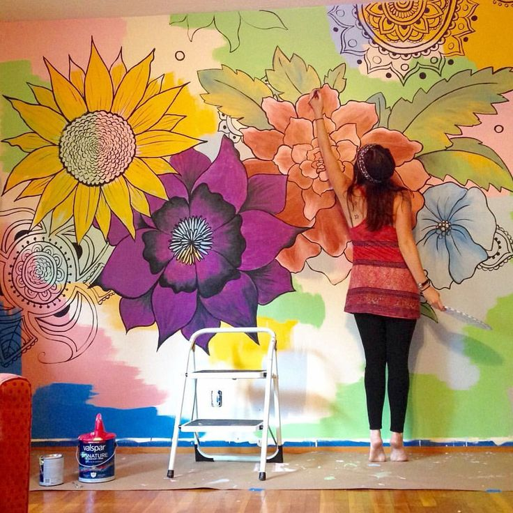 Great mural for living room, main bedroom or kids room done by crafty Mama Esté Hupp. Also see my blog http://KraftiMama.com
