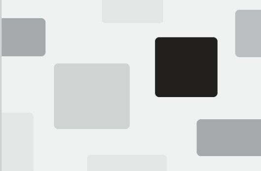 Black square is dominant due to the high contrast it makes