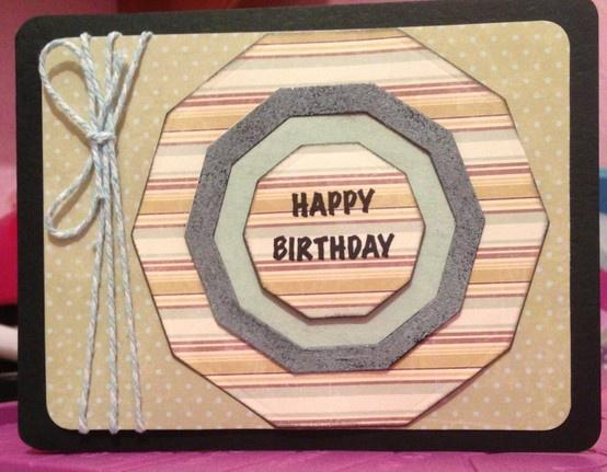 "4""x6"" stacked decagons ""Happy Birthday""!"