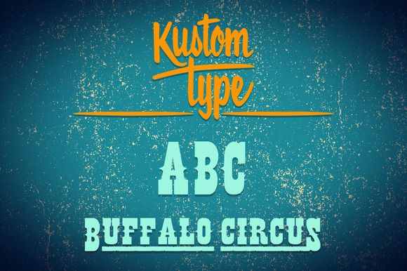 Check out Buffalo Circus Font by Kustomtype on Creative Market
