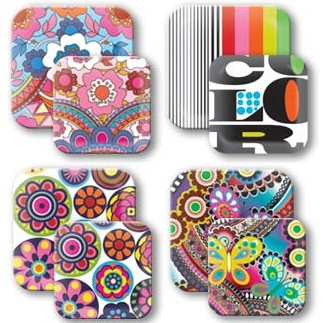 The 49 best images about melamine dinnerware sets on pinterest picnics lilly pulitzer and - Funky flatware sets ...