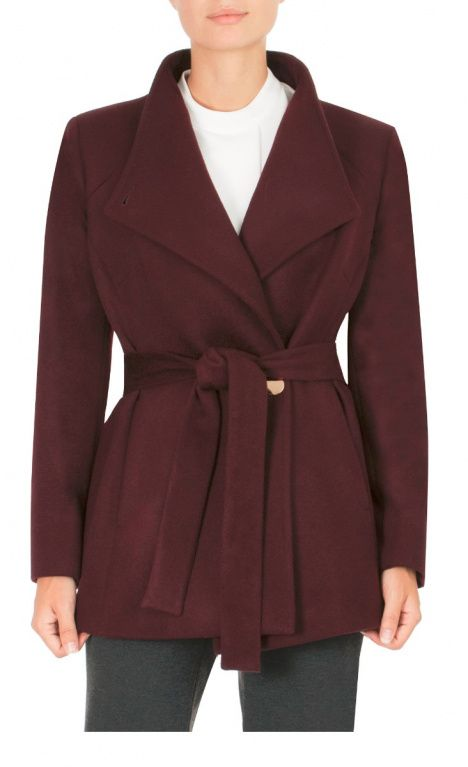 9 To 5 Style | Berry Wool Jacket