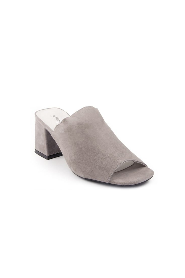 If you don't have a pair of mules in your life... you need one! Love this grey suede jeffery campbell mule Blue Eyed Girl | THE LIST