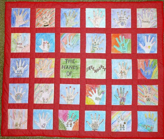 Classroom Quilt Ideas ~ Best group quilt ideas images on pinterest hand