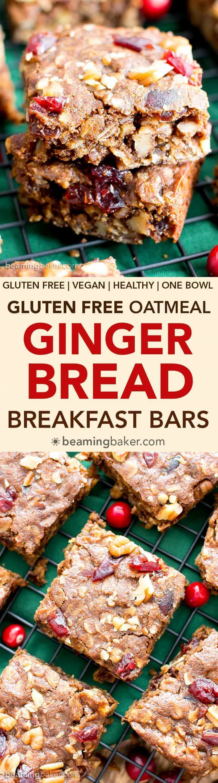 Gingerbread Oatmeal Breakfast Bars