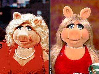 The old school Miss Piggy vs. Piggy now!