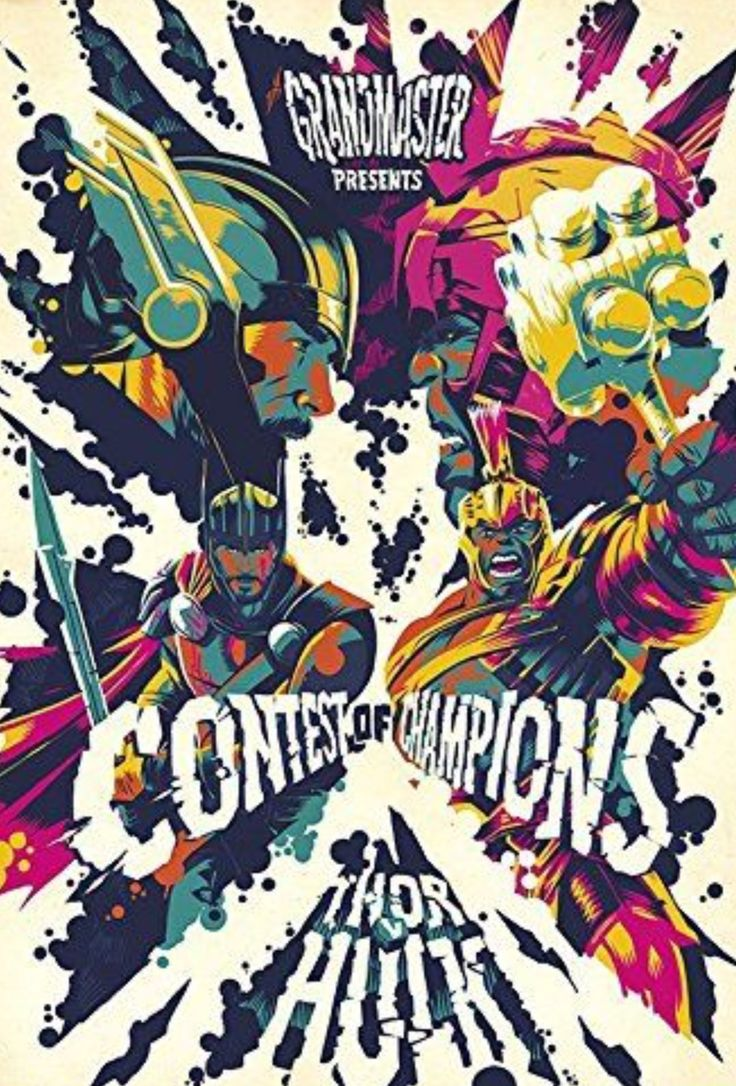 Thor Ragnarok Movie Poster 2017 Grandmaster Presents the Contest of Champions Thor Vs The Incredible Hulk, Check out all the Thor Ragnarok Easter Eggs - DigitalEntertainmentReview.com