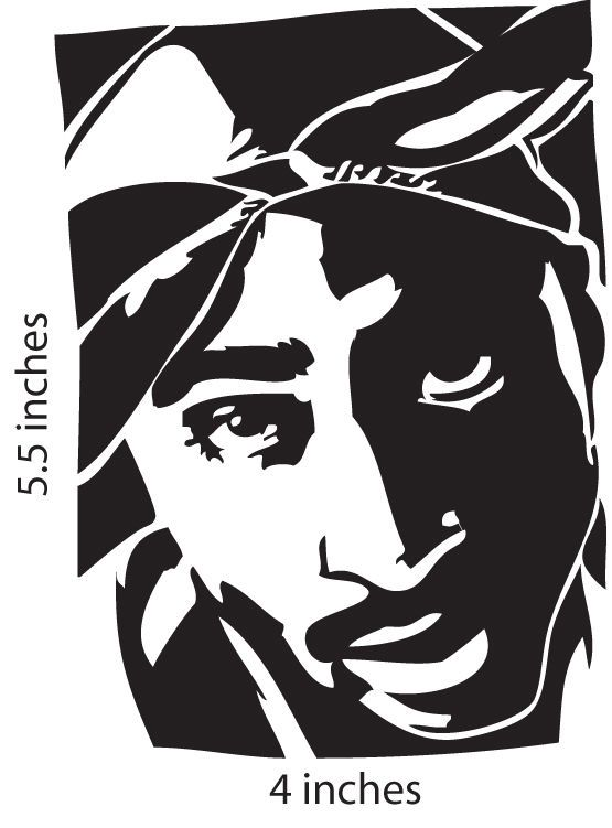 Tupac Black And White Stencil In 2019