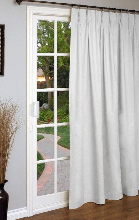 Pinch Pleat Curtains For Patio Doors