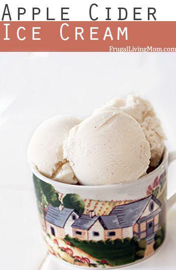 apple cider ice cream
