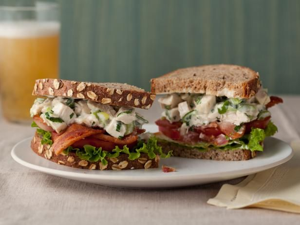 5-Star Chicken Salad #ChickenSalad: Pecan Chicken Salads, Simple Chicken, The Food Network, Popeye S Honey, Chickensalad, Chicken Salad Recipes, Honey Pecan, Chicken Salad Sandwiches