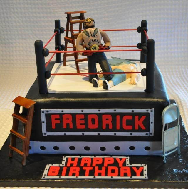 Awesome cake! #WWE