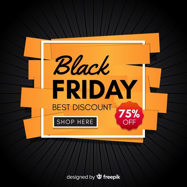 Black Friday Concept With Flat Design Background Black Friday Hosting Black Friday Design