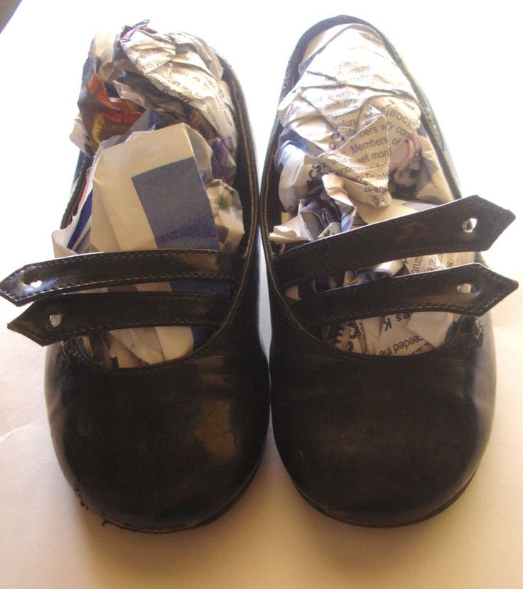 Place newspaper in shoes overnight to remove odor.